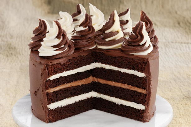 Chocolate Cake With Melted Marshmallow Icing