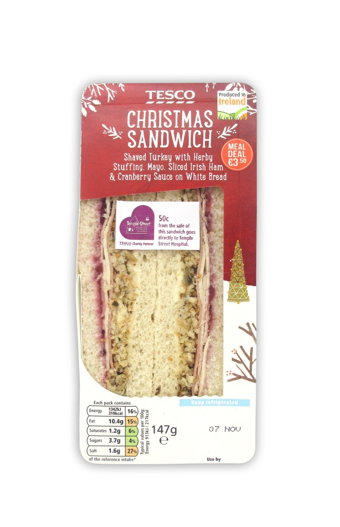 Tesco launches Christmas Sandwich for Temple Street - Our ...